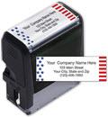 Patriotic Name and Address Stamp