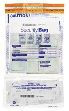 Twin Money Handling Bag Vertical 9 1/2 x 15 53857