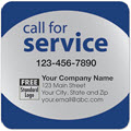 Call for Service Reminder Label