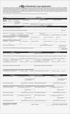 URLA Form 1003 - Uniform Residential Loan Application 7300