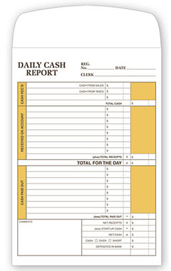 Daily Cash Report Envelope 757