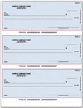 Laser 3-To-A-Page Checks, Lined