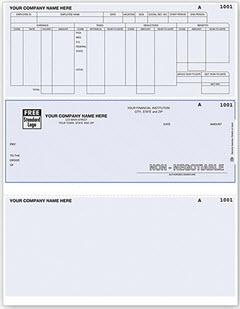 Laser Printer Direct Deposit Advice Slip 80158